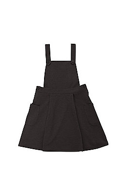 F&F School Jersey Pinafore Dress - Grey