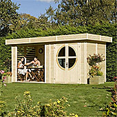 5m x 2m (16ft x 8ft) Connor Unpainted Log Cabin Garden Cabin (19mm Tongue & Groove)
