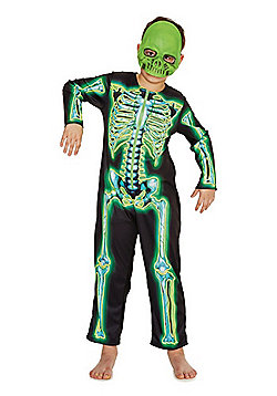 F&F Skeleton Glow in the Dark Costume - Black