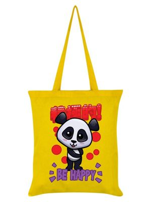 Handa Panda Be Happy Tote Bag 38 x 42cm, Yellow