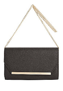 F&F Glitter Metallic Bar Envelope Clutch Bag