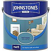 Johnstones No Ordinary Paint Water Based Interior Vinyl Matt Emulsion Teal Topaz 75ml