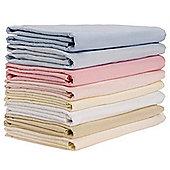 2 Pack Cot Flannelette Sheets (Blue) 100cm x 150cm