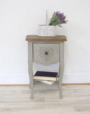 French Style Heart Bedside Table