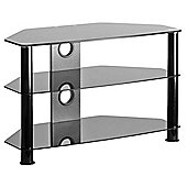 MMT DB800 Black Glass Corner TV Stand