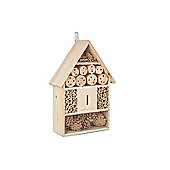 Andrew James Bee House Wooden Insect Hotel for Garden Wildlife