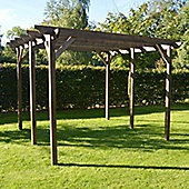 Garden Pergola 4.2m x 4.2m - Chamfered Rafter End