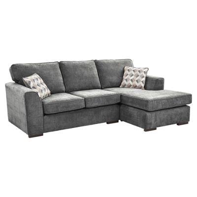 boston right hand corner chaise dark grey