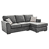 Boston Right Hand Corner Chaise, Dark Grey