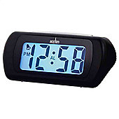 Acctim Auric Digital LCD Display Alarm Clock with Snooze - Black
