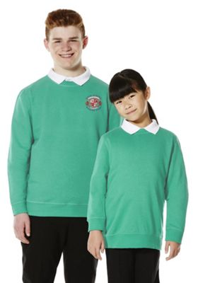 Unisex Embroidered School Sweatshirt with As New Technology 9-10 years Jade green