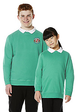 Unisex Embroidered School Sweatshirt with As New Technology - Jade green