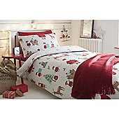Fusion Christmas Elf Duvet Cover Set - Red