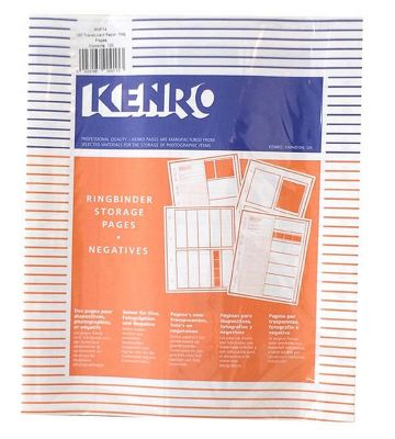 Kenro Negative File Pages 120 Paper - pack of 100