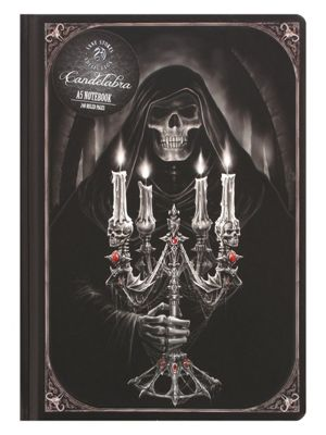 Anne Stokes Candelabra A5 Hard Cover Notebook 15x21cm