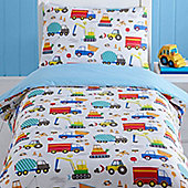 Trucks and Diggers Toddler Bedding