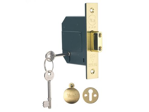 Yale Locks PM562 Hi-Security BS 5 Lever Mortice Deadlock 81mm 3in Polish Brass