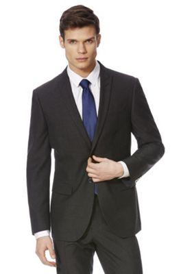 F&F Slim Fit Suit Jacket 46 Chest long length Charcoal