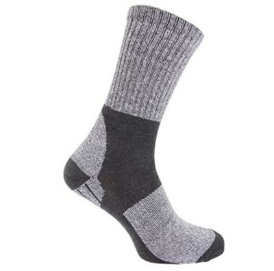 Storm Ridge Grey Mens Trekking Socks With Cushioned Heel And Sole (1 Pair)