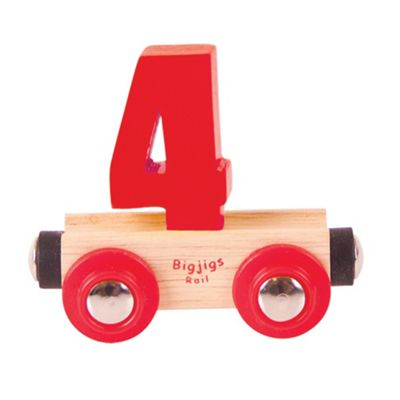Bigjigs Rail Rail Name Number 4 (Red)
