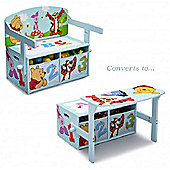 Disney Winnie The Pooh Convertible Desk and Bench
