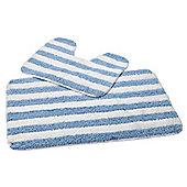 EHC Multi Stripe 2 Pcs Antislip Bath Mat Set