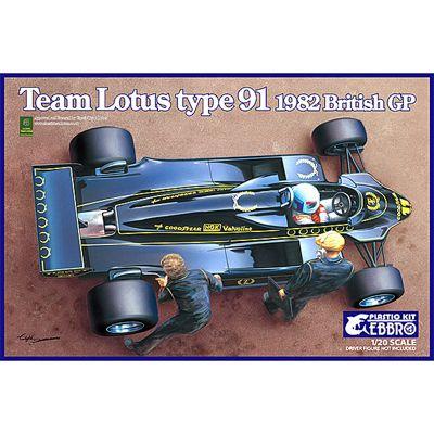 EBBRO E012 Team Lotus Type 91 (1982) 1:20 Car Model Kit 20012