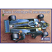 EBBRO E012 Team Lotus Type 91 (1982) 1:20 Car Model Kit 20012