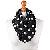 Nursing Scarf - Black with Cream Spots