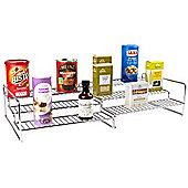 Andrew James Cupboard Organiser Extendable Step Up Shelf - Silver