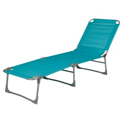 buy tesco folding lounger blue from our sun lounger. Black Bedroom Furniture Sets. Home Design Ideas