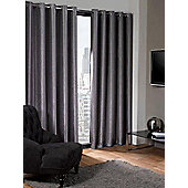 Logan Eyelet Thermal Blackout Curtains, Silver 168x137cm