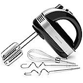 Andrew James Electric Hand Mixer with Extra Long Beaters 5 Speeds & Turbo - Black