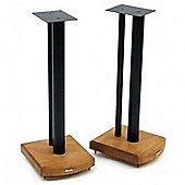 Atacama Moseco 6 Speaker Stands Medium Bamboo-Gloss Black Pole