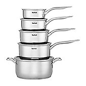 Tefal A702S544 Intuition 5 Piece Pan Set - Silver