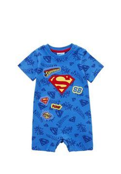 DC Comics Superman Romper - Blue