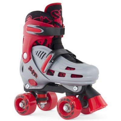 SFR Hurricane Adjustable Quad Skate - Red - Medium (Junior UK 12 - UK 2)