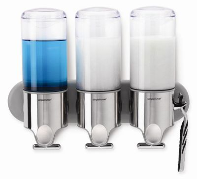 simplehuman Triple Wall Mount Soap Dispenser