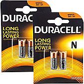 4 x Duracell MN9100 1.5V Alkaline Battery LR1 E90 KN