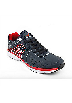 Woodworm Sports Flame Mens Running Shoes / Trainers - Navy
