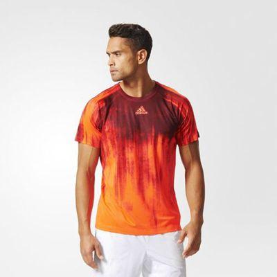 adidas performance Mens Adizero Graphic Hand Printed T-Shirt - M