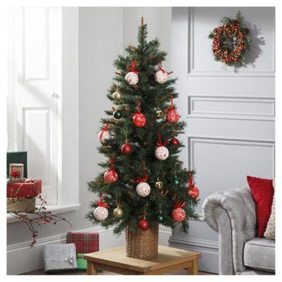 Dobbies Buttermere Fir In Basket Christmas Tree, 4ft