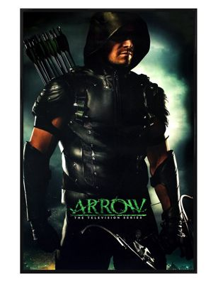 Arrow Gloss Black Framed Aim Higher Poster