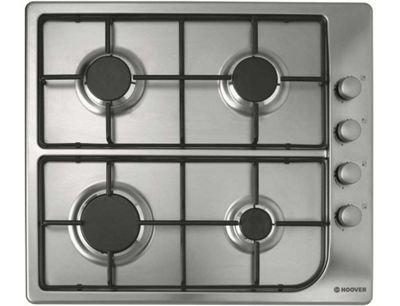 Hoover HGL64SX 60cm Gas Hob in Stainless Steel