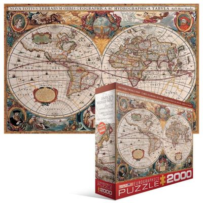 Antique World Map Puzzle.Buy Antique World Map Puzzle From Our Adults Puzzles Range Tesco