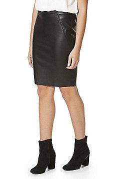 Vero Moda Faux Leather Pencil Skirt - Black