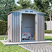 BillyOh Boxer Apex Metal Shed Garden Storage 4 x 7 Grey