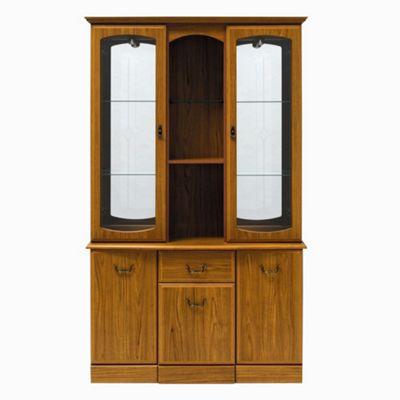 Caxton Tennyson 122 cm Display Cabinet in Teak