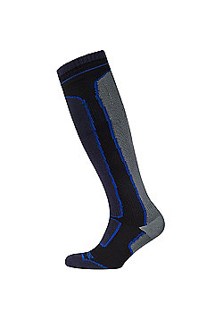 SealSkinz Road Thin Mid Hydrostop Sock Black/Grey Size: L