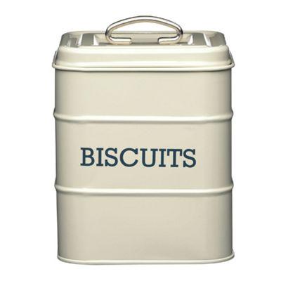 Living Nostalgia Vintage Biscuit Tin, Cream